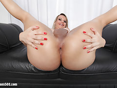 Alice Brando strokes her shecock just for the camera!