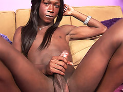 Big dicked black shem massaging her member